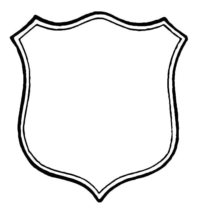 Shield clipart black and white Free  Free The Clip