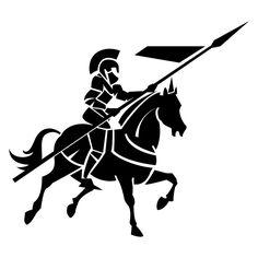 Knight clipart silhouette On LiKX5aeia horseback medieval Knight