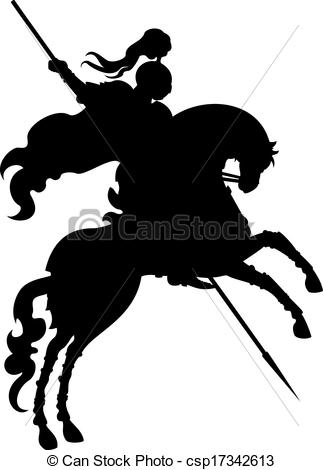 Knight clipart silhouette Silhouette Art  on champion
