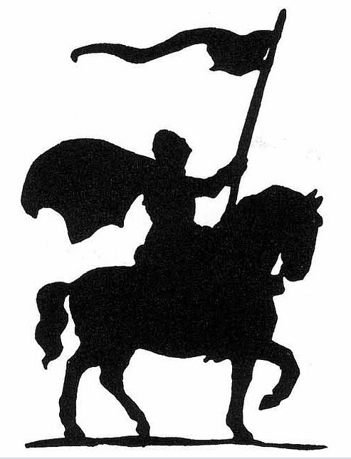 Knight clipart silhouette Download Cliparts Tattoo Ink Horse