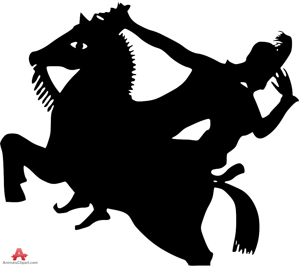 Knight clipart silhouette Design Free Silhouette on Horse