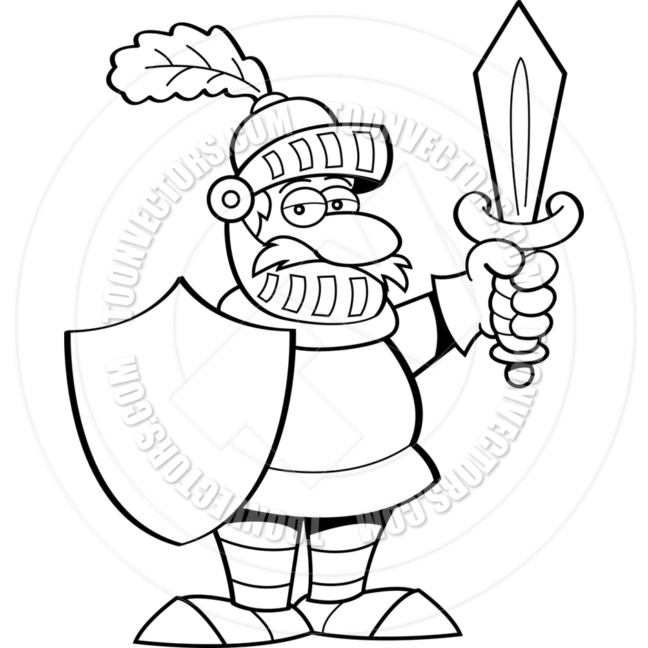 Knight clipart simple cartoon With Knight Sword and with