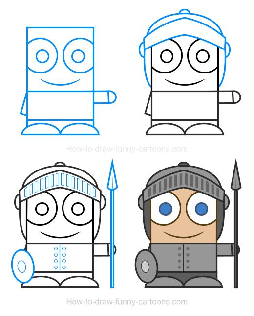 Knight clipart simple cartoon How Knight Knight Draw Clipart