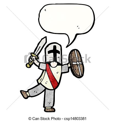 Knight clipart simple cartoon Vector knight csp14803381 cartoon Search
