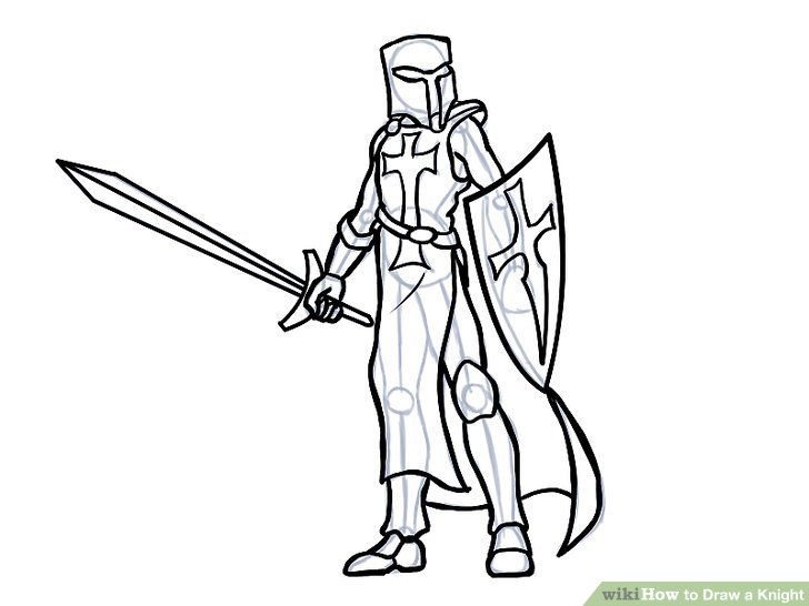Knight clipart swordsman Image Draw Step How to