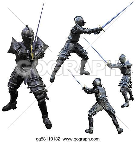 Knight clipart swordsman Swordsman Drawing in gg58110182 Clipart
