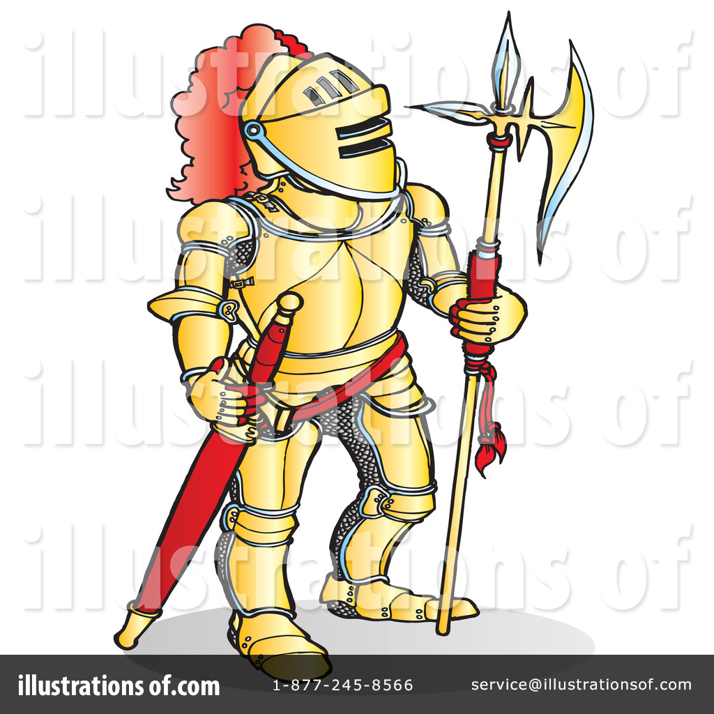 Yellow clipart knight (RF) Illustration Illustration by Free