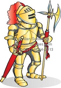 Yellow clipart knight Knight Illustration Illustration Gold of