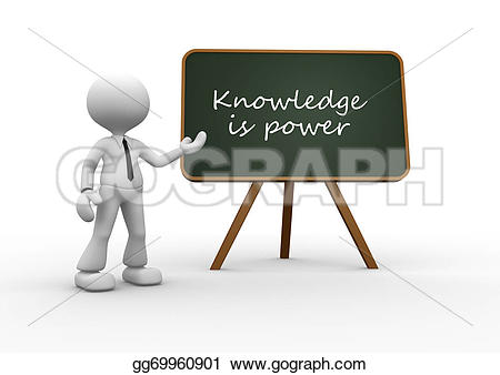Knowledge clipart 3d person 3d backboard gg69960901 is Illustration