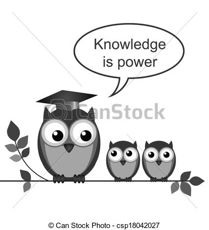 Knowledge clipart black and white Knowledge of is Vector power