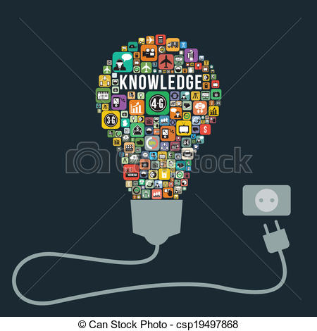 Knowledge clipart bulb Knowledge csp19497868 from icons business