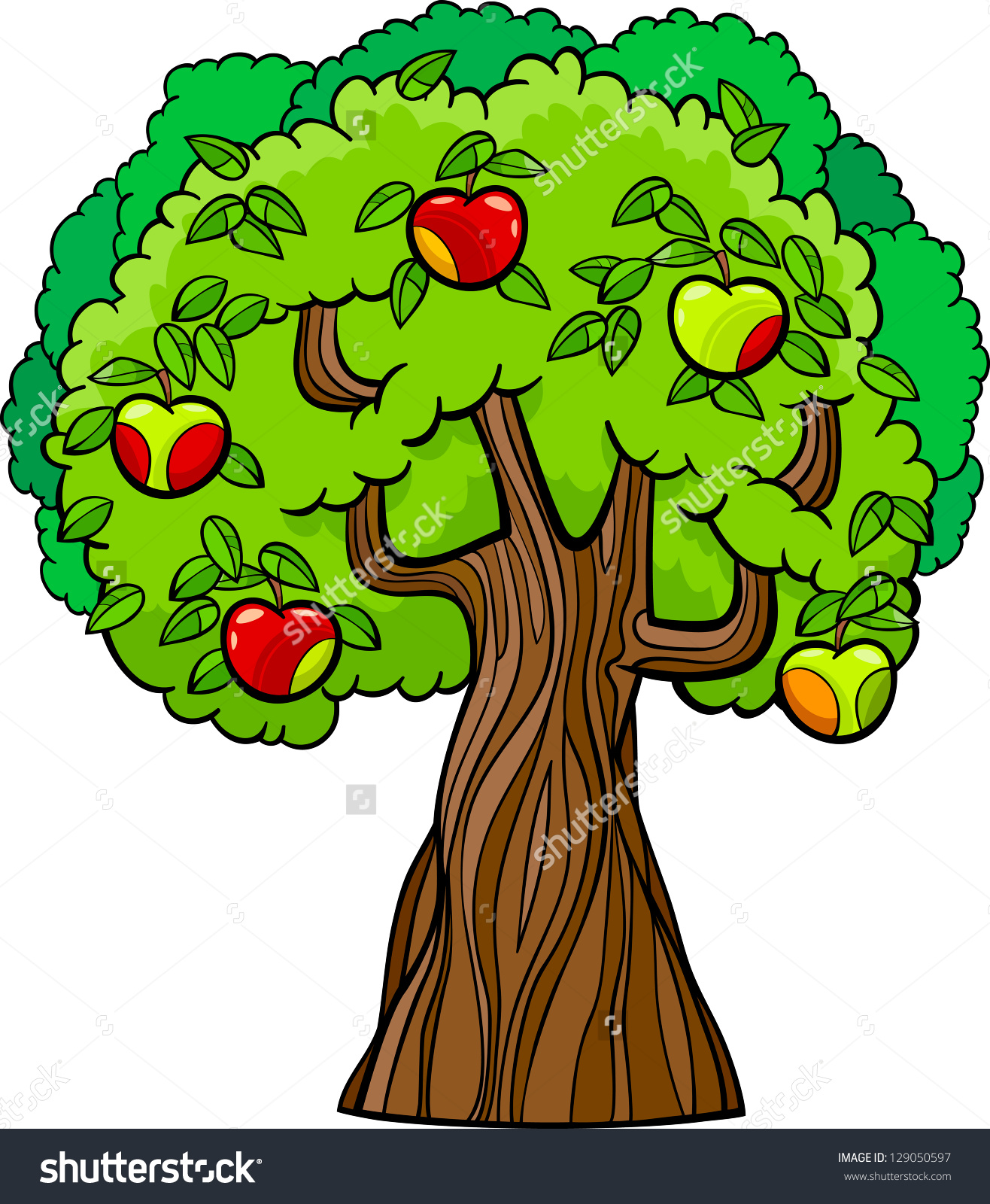 Knowledge clipart cartoon And Clipart tree Tree apples