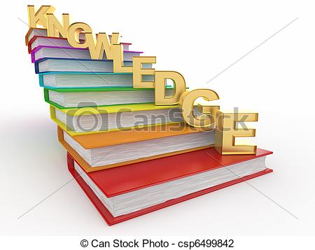 Knowledge clipart graphic Books on Illustration of on