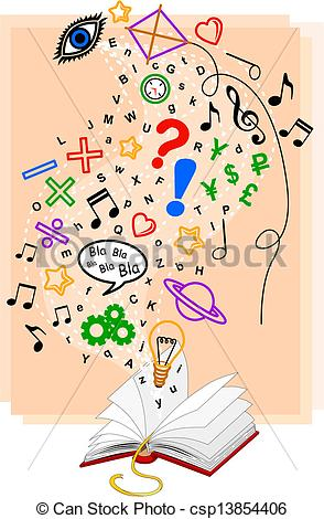 Knowledge clipart graphic Vector of Abstract  of