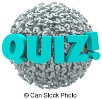 Word clipart quiz 7 Evaluate and Marks EPS