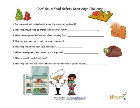 Knowledge clipart school testing  Worksheet For Food Knowledge