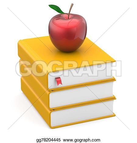 Wisdom clipart literature Red icon literature apple and