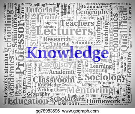 Knowledge clipart wisdom Word Art Illustration words Clip