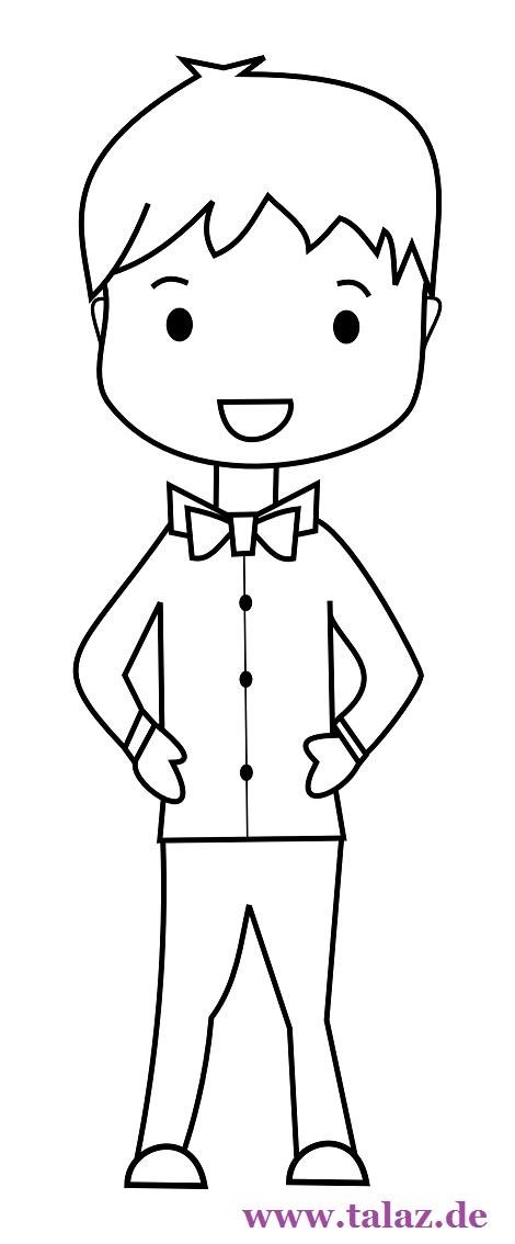 Boy clipart black and white Koala tie a Clipart Clipart