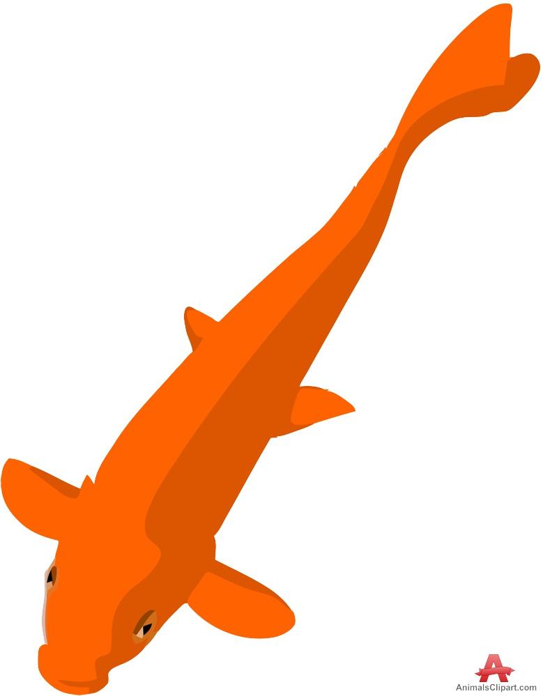 Koi Fish clipart Design Orange Download Free Clipart