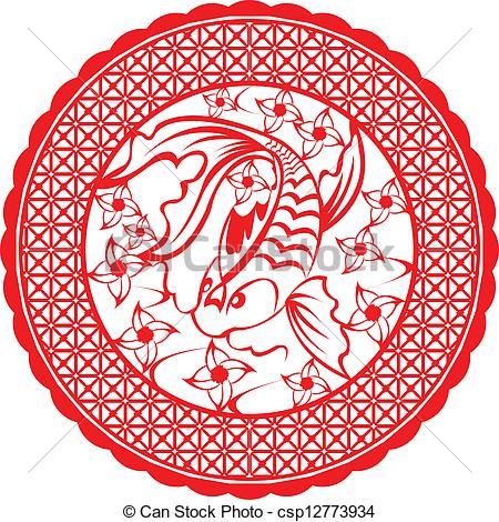 Koi clipart A Chinese koi Chinese Vectors