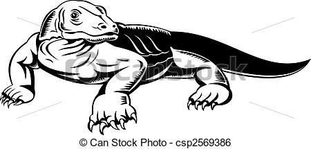 Monitor Lizard clipart Monitor royalty  of komodo