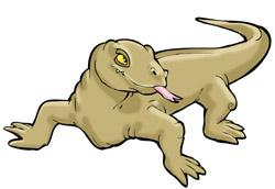 Komodo Dragon clipart Free Clipart Art Komodo Images