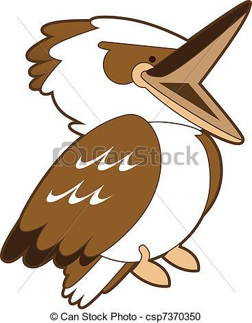 Kookaburra clipart Isolated Kookaburra royalty Clip Illustrations