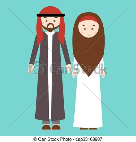 Kopel clipart arabic Of of arabic couple man