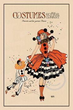 Kopel clipart art deco Pierrot Pierrot Search Homer Whimsical