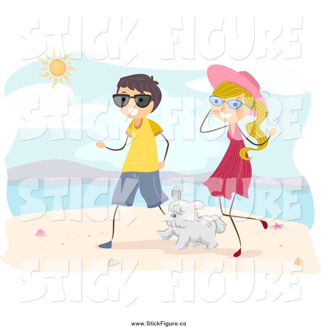 Kopel clipart beach Couple  Summer Art Happy