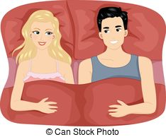 Kopel clipart bed A Illustration clipart Couple EPS