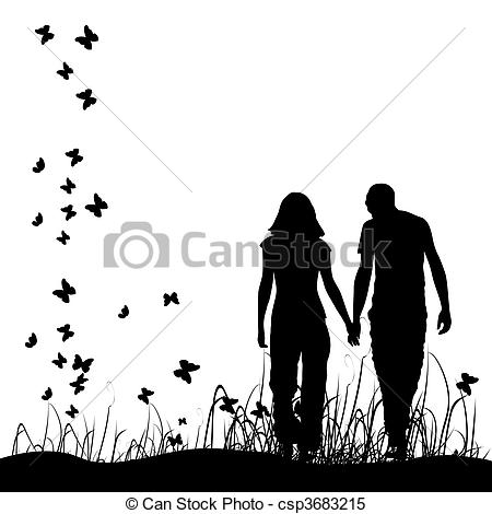 Kopel clipart black and white Clipart Art Free Couples clipart