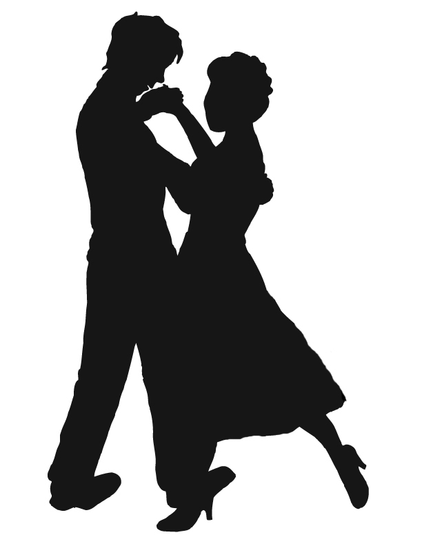 Kopel clipart black and white Clipart Dancing Free  Couples