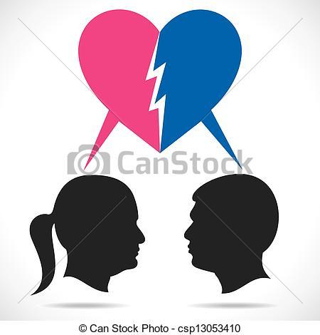 Kopel clipart breakup Couple of breakup Art vector