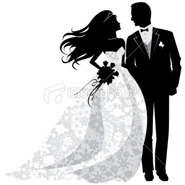 Wedding Dress clipart bride and groom silhouette Designs groom silhouette Pinterest images