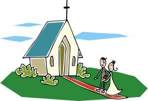 Wedding clipart church Clipart graphics clipart bridegroom couple