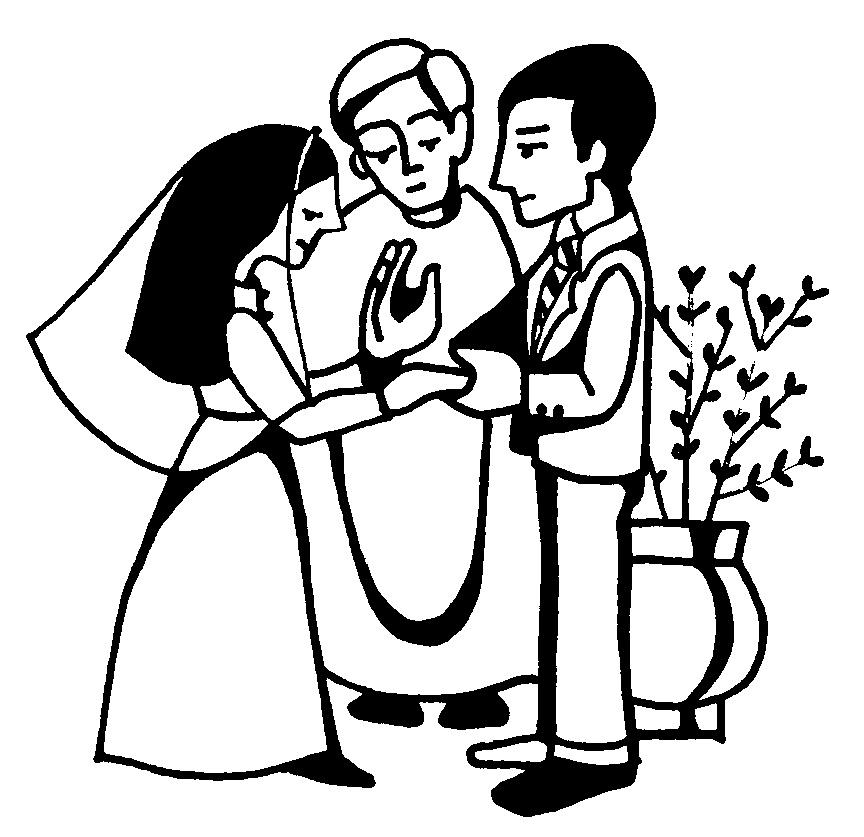 Kopel clipart church wedding Collection Clip couple+blessing+clipart Wedding Cliparts