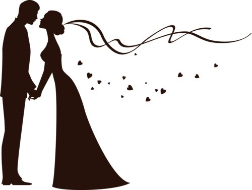 Blue clipart bride and groom Best and silhouette the ideas