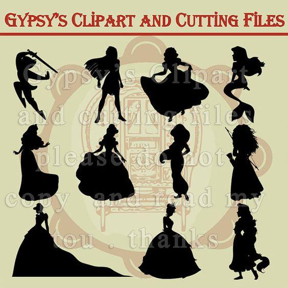 K.o.p.e.l. clipart couple silhouette Princess Disney Svg Clipart Jasmine