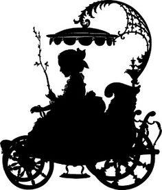 K.o.p.e.l. clipart couple silhouette VintageFeedsacks:  Silhouette Vintage Clip