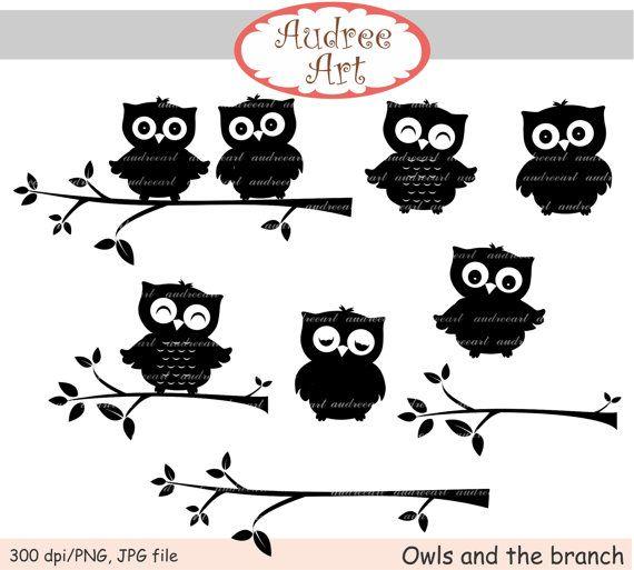 K.o.p.e.l. clipart couple silhouette Zeefdruk images owls Black Cherry