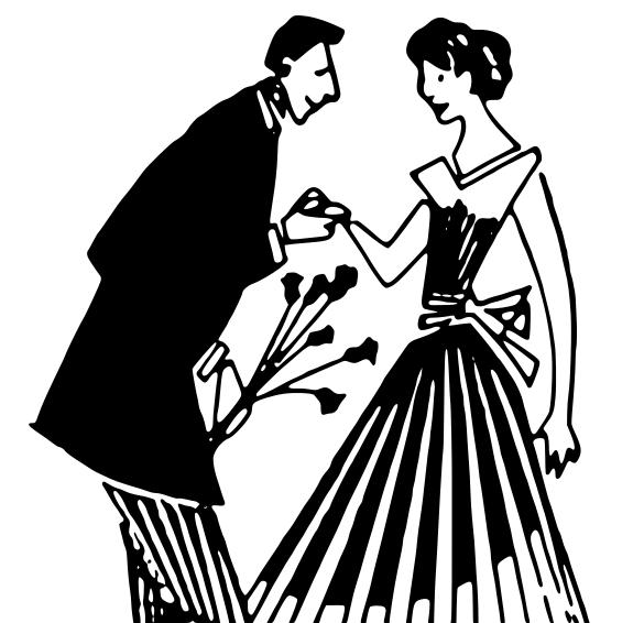 Romantic clipart courtship #4