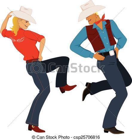 Woman clipart cowboy Dancing couple of Young in