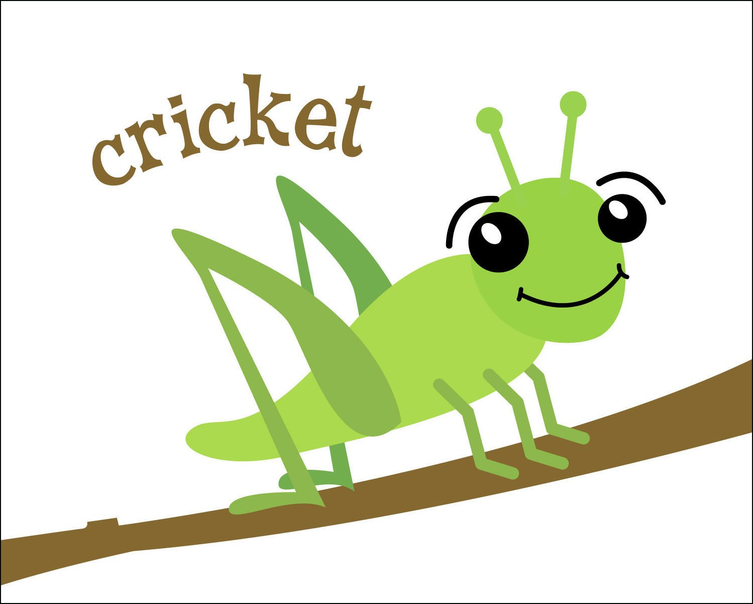 Adorable clipart cricket Insect Drawings Clipart Pinterest Kid