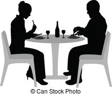 Date clipart dining Art couple Vector dining and