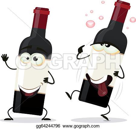 Kopel clipart drunk Stock EPS a Happy wine
