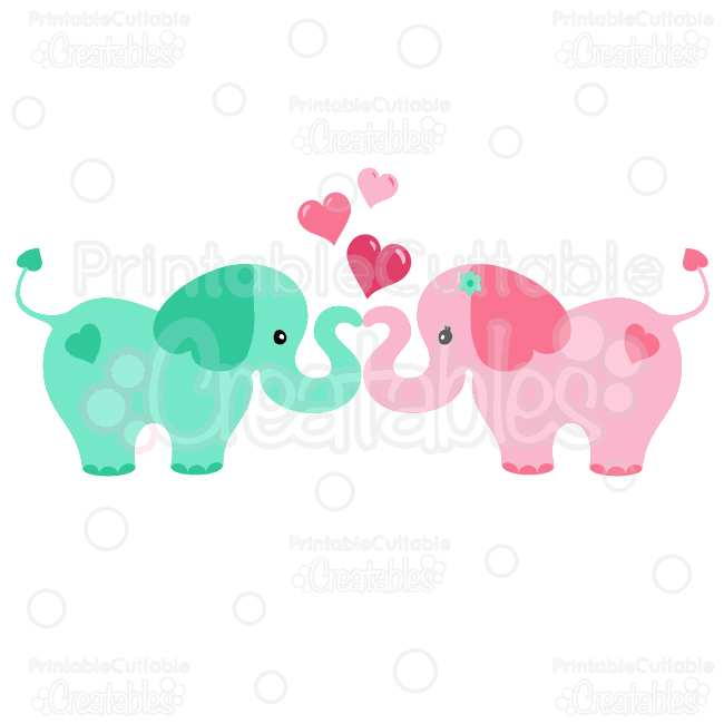 Kopel clipart elephant And Love Hearts files in