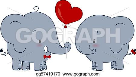 Kopel clipart elephant  Couple couple gg57419170 Drawing