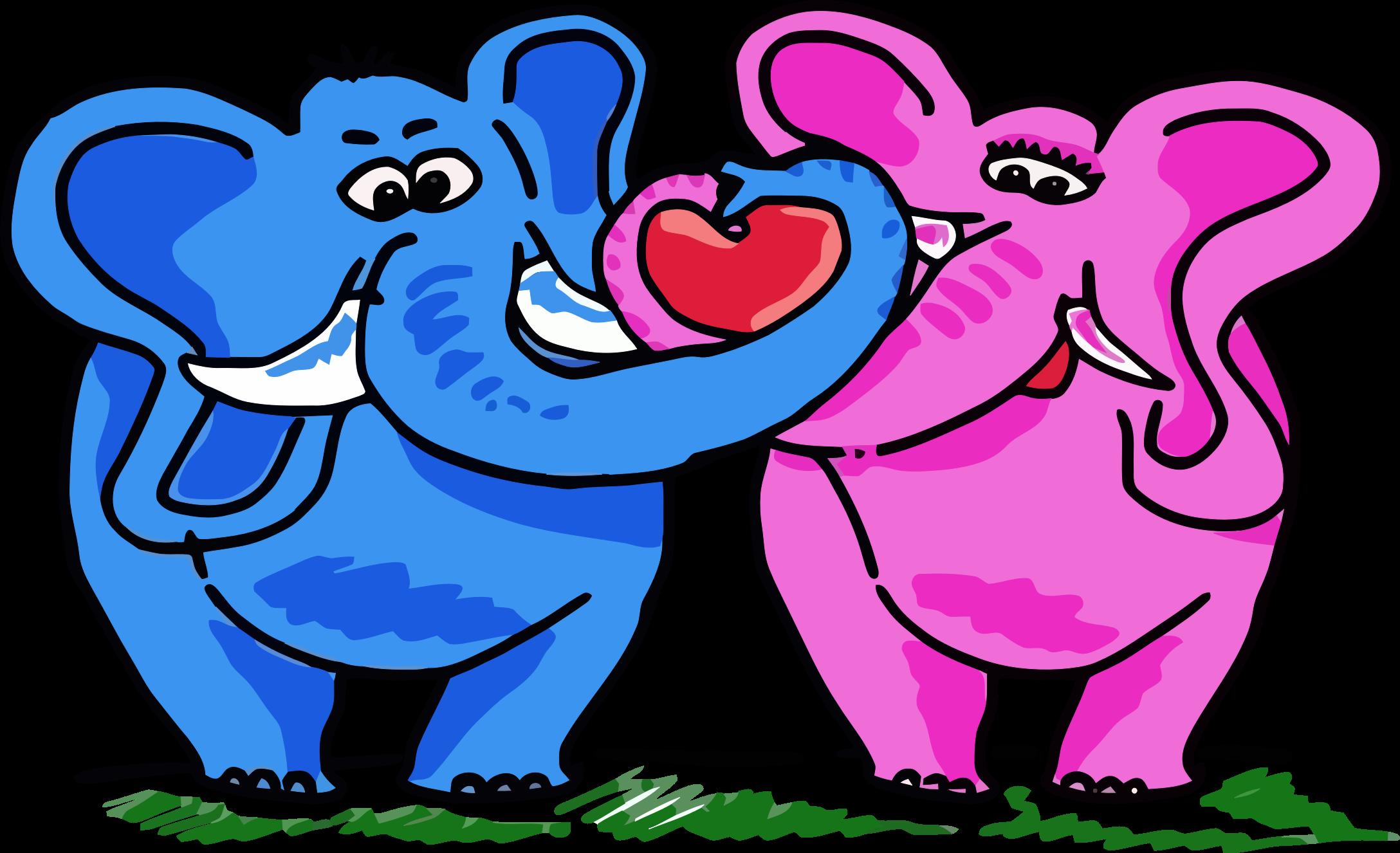 Kopel clipart elephant Couple Elephant Couple Clipart Elephant